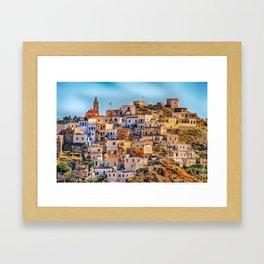 Beautiful Town - Karpathos Island, Greece Framed Art Print