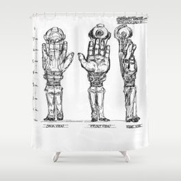 HEM With Backpack Shower Curtain