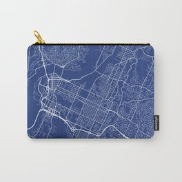 Chattanooga Map, USA - Blue Carry-All Pouch