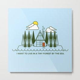 Tiny Forest by the Sea Metal Print