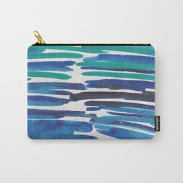 18  |  190408 Blue Abstract Watercolour Carry-All Pouch