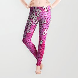 Party Pink Sequins Leggings