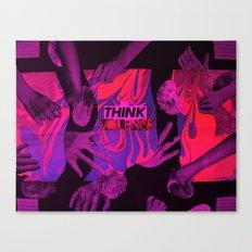 THINK VIOLENCE  Canvas Print
