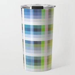 blue retro crossed design Nuckelavee Travel Mug