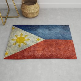 Republic of the Philippines national flag (50% of commission WILL go to help them recover) Rug