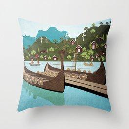 Norway 5 Throw Pillow