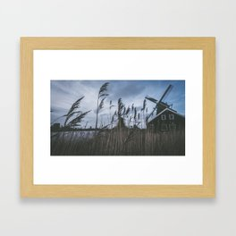 Windmills, Netherlands Framed Art Print
