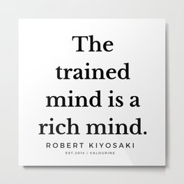 38 |  Robert Kiyosaki Quotes | 190824 Metal Print