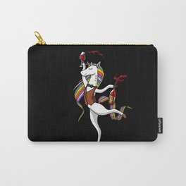 Party Unicorn Drinking Wine Carry-All Pouch