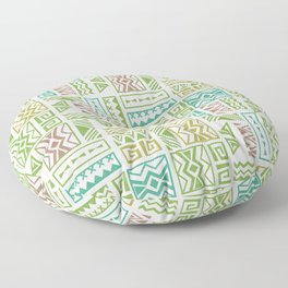 Polynesia Geometric Tapa Cloth - Earth Colors Floor Pillow