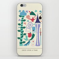 once upon a  time iPhone & iPod Skins featuring Once Upon a Time by Abbie Imagine