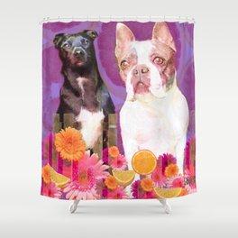 Buddha and Izzy Shower Curtain