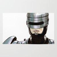 robocop Area & Throw Rugs featuring Robocop by Nicole Cuvin