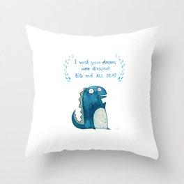 Postcard for your enemy Throw Pillow