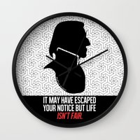 snape Wall Clocks featuring Harry Potter Severus Snape by raeuberstochter