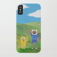 finn and jake iPhone & iPod Cases featuring Finn And Jake! by Ben Morgan