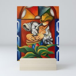 Drum and stainglass Mini Art Print