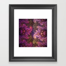 Dragon spirals ans Spheres in autumn colors Framed Art Print
