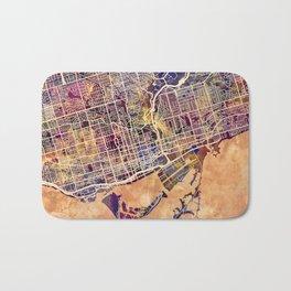 Toronto Canada Street Map Bath Mat