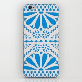 Fiesta de Flores in Party Blue iPhone Skin
