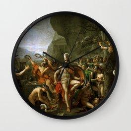 Leonidas at Thermopylai  Wall Clock