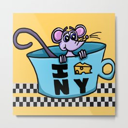 NY Mouse Metal Print