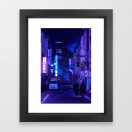 Tokyo Nights / Red Light District / Liam Wong Framed Art Print
