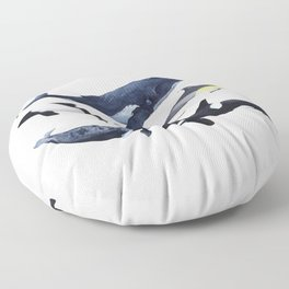 CETACEANS- WHALE, DOLPHINS, NARWHAL Floor Pillow