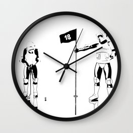 The real dark side - Hole 18 Wall Clock