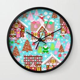 Gingerbread House Christmas  Xmas Holiday Gingerbread Man, ladies & kids Gingerbread Wall Clock