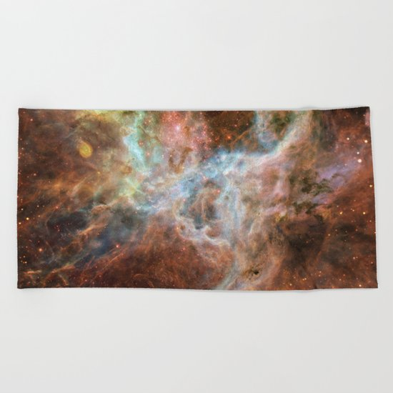 The Galaxy Above with Stars Beach Towel