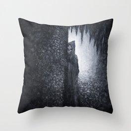 """Lucas Allen Cook """"Dungeon Dweller"""" Throw Pillow"""