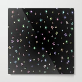 Colored Sparkling Stars Metal Print