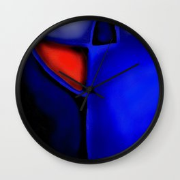 Abstraction in Lapis and Red Wall Clock