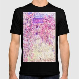 Monet : The House Among the Roses T-shirt