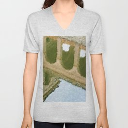 Meet Me by the Colonnades (Belvedere Castle) by Jeanpaul Ferro Unisex V-Neck