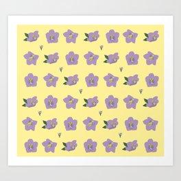 Blue Clips Flowers Art Print