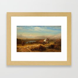 The Last of the Buffalo by Albert Bierstadt Framed Art Print