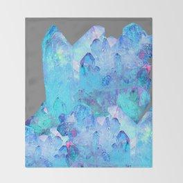 AURAL BLUE CRYSTALS ART Throw Blanket