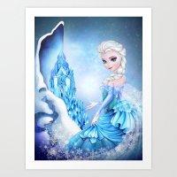 elsa Art Prints featuring ELSA by Annya Kai