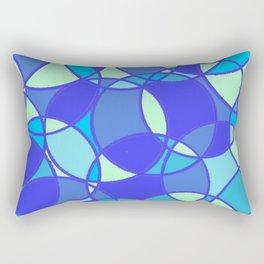 Circles, in blue Rectangular Pillow