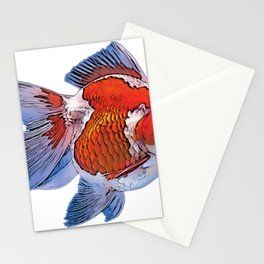 Pearlscale Fancy Body Fish Soft Fins Pregnant Bell Stationery Cards