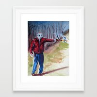 dave matthews Framed Art Prints featuring Dave by David D'Ostilio