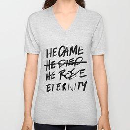 #JESUS2019 - Came Died Rose Eternity 3 Unisex V-Neck