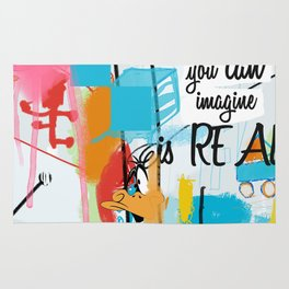 Everything you can imagine is real Rug