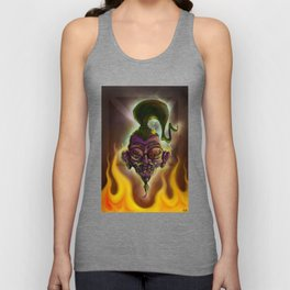 Rebel Shrunken Head Unisex Tank Top
