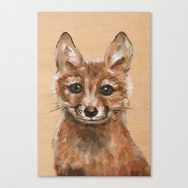 Nursery Art / Decor - Woodland bay fox Canvas Print