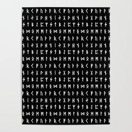 Nordic Runes // Black Poster