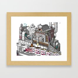 "Coffee Machine ""Visual Toy"" Illustration. Framed Art Print"