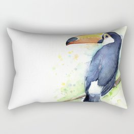 Toucan Tropical Bird Watercolor Rectangular Pillow